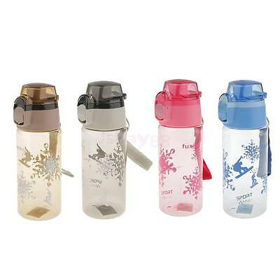 650ML BPA Free Plastic Bouncing Sports Water Bottle w/ Lanyard for Cycling Gym