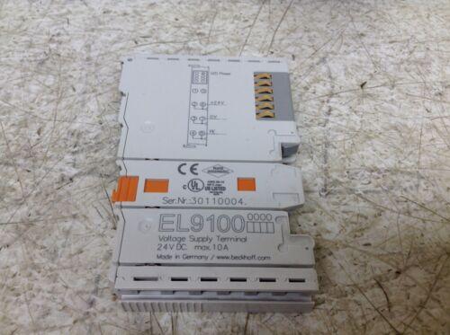 Beckhoff EL9100 Voltage Supply Terminal 24 VDC Max 10A