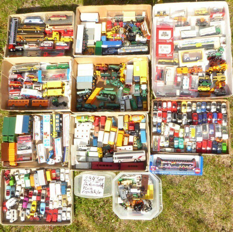 H0 colección 1 87, 294 unidades coches y camiones Herpa, Wiking, Roskopf, Brekina, etc.