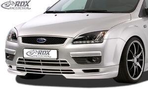 RDX-Frontspoiler-FORD-Focus-2-MK2-08-Front-Spoiler-Lippe-Vorne-Ansatz-PUR-ABS