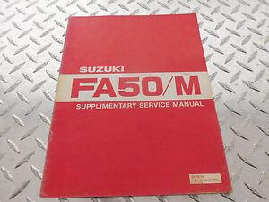 1981 Suzuki FA50 FA50M Supplementary Service Repair Manual SR-0570