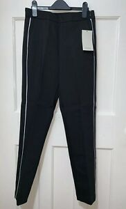 fde0f2f2 Image is loading ZARA-BLACK-SKINNY-STRETCHY-TROUSERS-WITH-WHITE-PIPING-