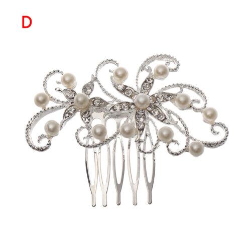Hot Rhinestone Flower Leaf Bridal Wedding Hair Comb Girls Crystal Hair Ornaments