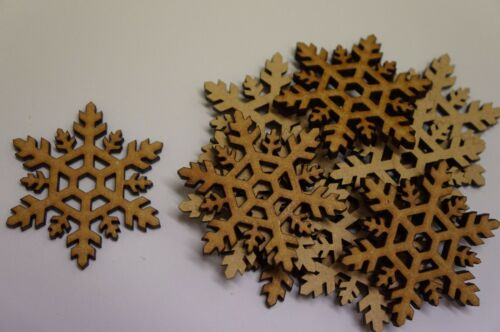 5cm 3cm MDF Snowflake A 2cm Laser cut wooden shape 6cm 4cm 7cm