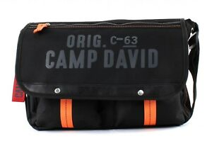 CAMP-DAVID-Rock-Ridge-Messengerbag-Umhaengetasche-Tasche-Black-Schwarz-Neu