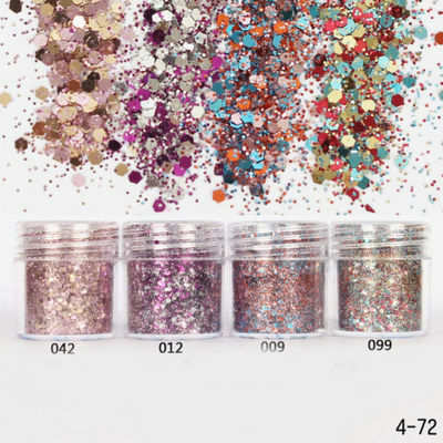 4 Pots/Set Chunky Mix Color Mermaid Holographic Cosmetic Eyeshadow Loose Glitter