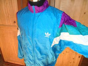 vintage 80s Adidas Nylon Jacke Trainingsjacke glanz oldschool Jacke Sportjacke L