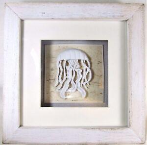 Jelly Fish Shadow Box Nautical Sea Life Wall Art Home Decor Ebay