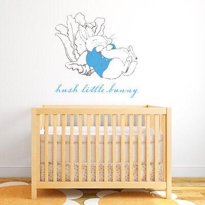 Official Peter Rabbit Hush Little Bunny Wall Sticker Mural Ebay