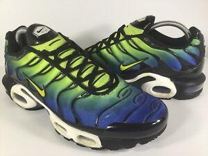 a4b28518d2 Nike Air Max Plus Tn Hyper Blue Green Cyber Black Mens Size 9 Rare ...