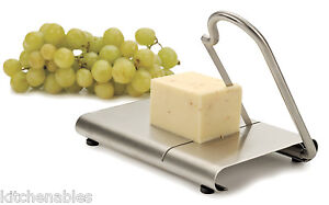 RSVP-Endurance-STAINLESS-Steel-Cheese-Slicer-Cutter-amp-Serving-Board