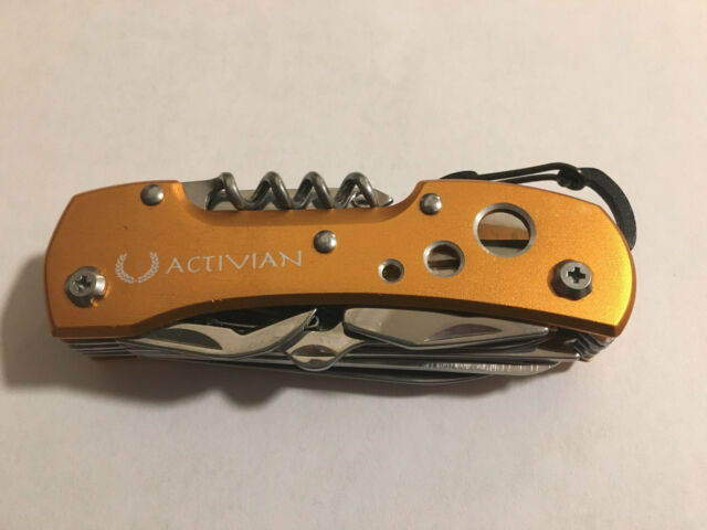 Gold Stainless Steel Swiss Camping Multi-Purpose Pocket Knife