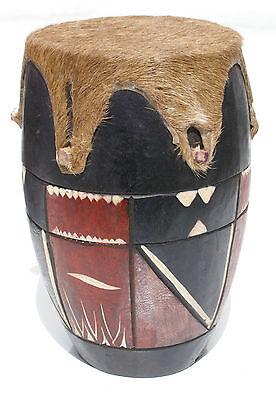 Wooden African Drum Music Instrument Home Decor Wood Art Craft Swaziland Piece