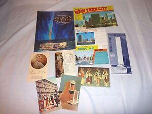 Vtg1964 1965 new York Souvenir Brochures Worlds Fair United Nations Vatican Ex.