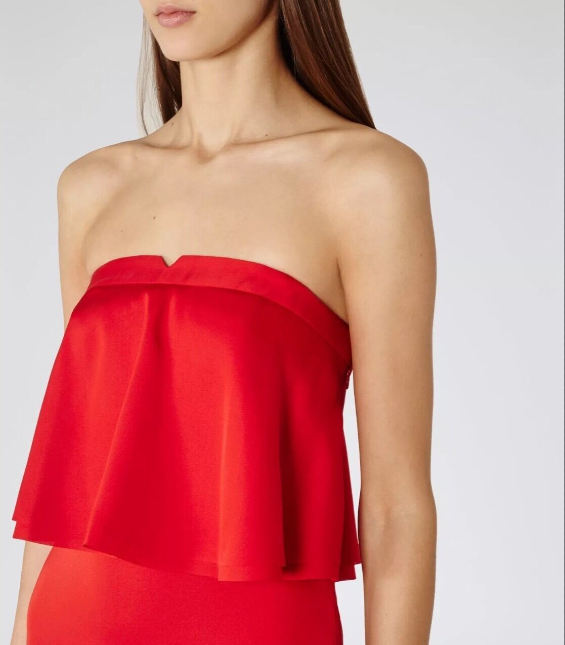 REISS Raffy Rum Ruffle-detail Dress S - RRP  NEW Sold Out