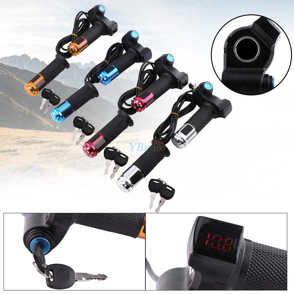 12V-99V E-Scooter Electric Bike Thredtle Grip Handlebar With LED Digital Meter