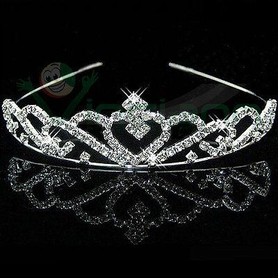 Cerchietto Corona Tiara Strass Accessori Capelli Acconciatura Matrimonio Sposa