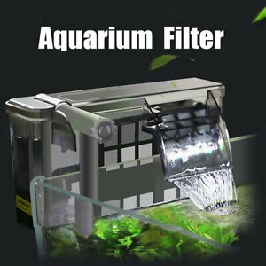 Hanging-Aquarium-Fish-Tank-External-Filter-Oil-Film-Remover-Surface-Skimmer-UK