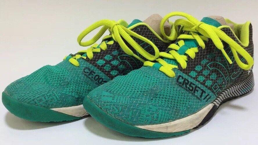 REEBOK Nano 5 5.0 Women's 9 Kevlar Crossfit Training Athletic Shoes Green Black