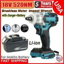 Cordless Electric Impact Wrench Gun 12 Driver 520nmli Ion Battery High Power