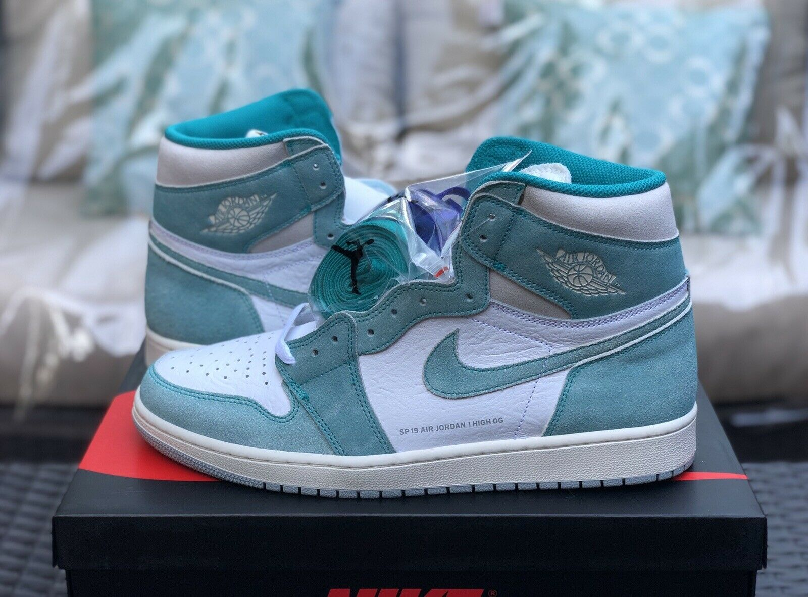 Nike Air Jordan 1 Retro High OG Turbo Green Size 12.5 Ships Same Day
