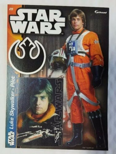 "Pilot New #25 Luke Skywalker Star Wars Fathead Tradeables 5/"" x 7/"""