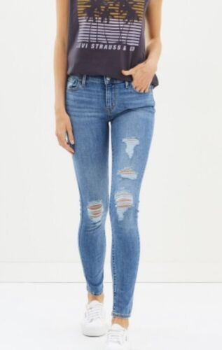 Levi's Diggity Ingen Patch 710 £ I 85 Jeans Super Skinny Rrp wRwUp