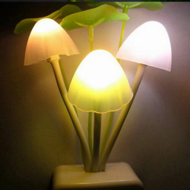 Creative Romantic Colorful  Mushroom Light Sense Control Led Night Wall Lamp