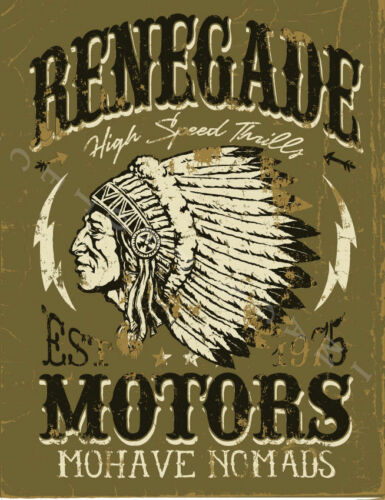 Renegade auto Old Garage Métal Tin Signe Affiche Plaque Murale