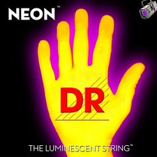 DR Strings K3 NEON Hi-Def YELLOW BASS NYB5-40 40-120 Five String Set