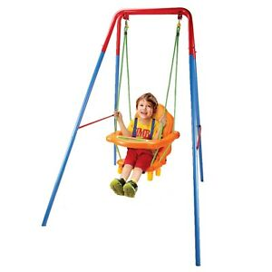 Image Is Loading Toddler Baby Swing With Safety Seat Kids Outdoor