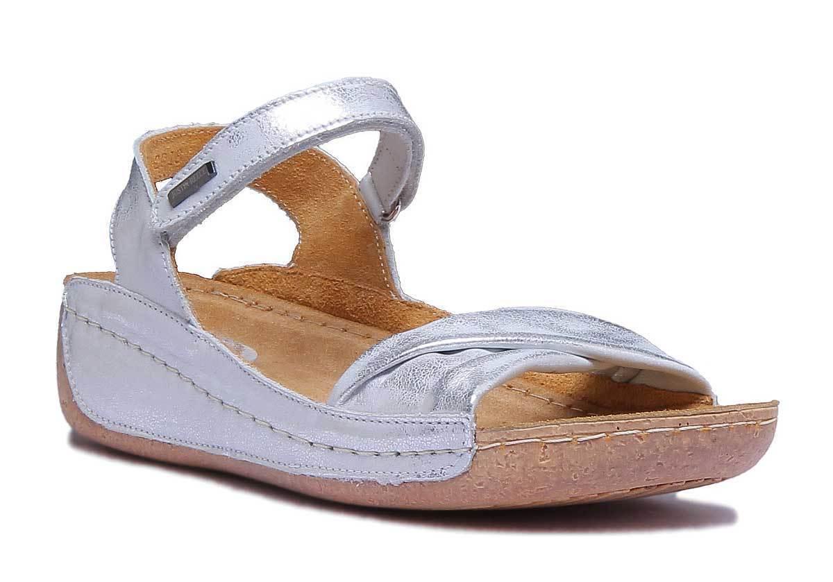 Justin Reece 4900 Womens Silver UK Leather Matt Sandal Size UK Silver 3 - 8 115aa2