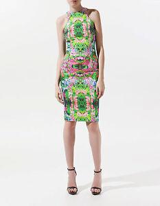 Pencil Small Extra Body Nwt Xs Retour Wiggle Floral Nouveau Zara Con Racer Dress qZ7SWxB0