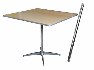 Cocktail Tables Square Wood Pub Bar Cafe Bistro Table - Adjustable height cocktail table