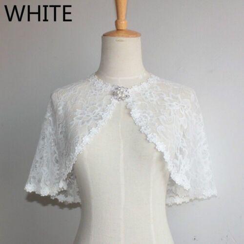 Bridal Lace Shrug Bolero Cape Wrap Jacket Shawl Tippet Tulle Wedding Elegant Top