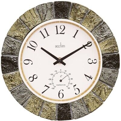 Bowfell Design Slate Effect Indoor /& Outdoor Wall Clock by Acctim