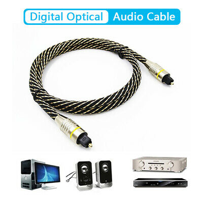 Digital Audio Optical Fiber Toslink Cable Length 1m 6.0mm OD