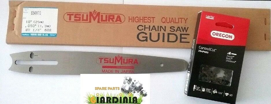 BARRA TSUMURA 10  Cocheving + CATENA OREGON  1 4  050  (1.3 mm) 60 Maglie