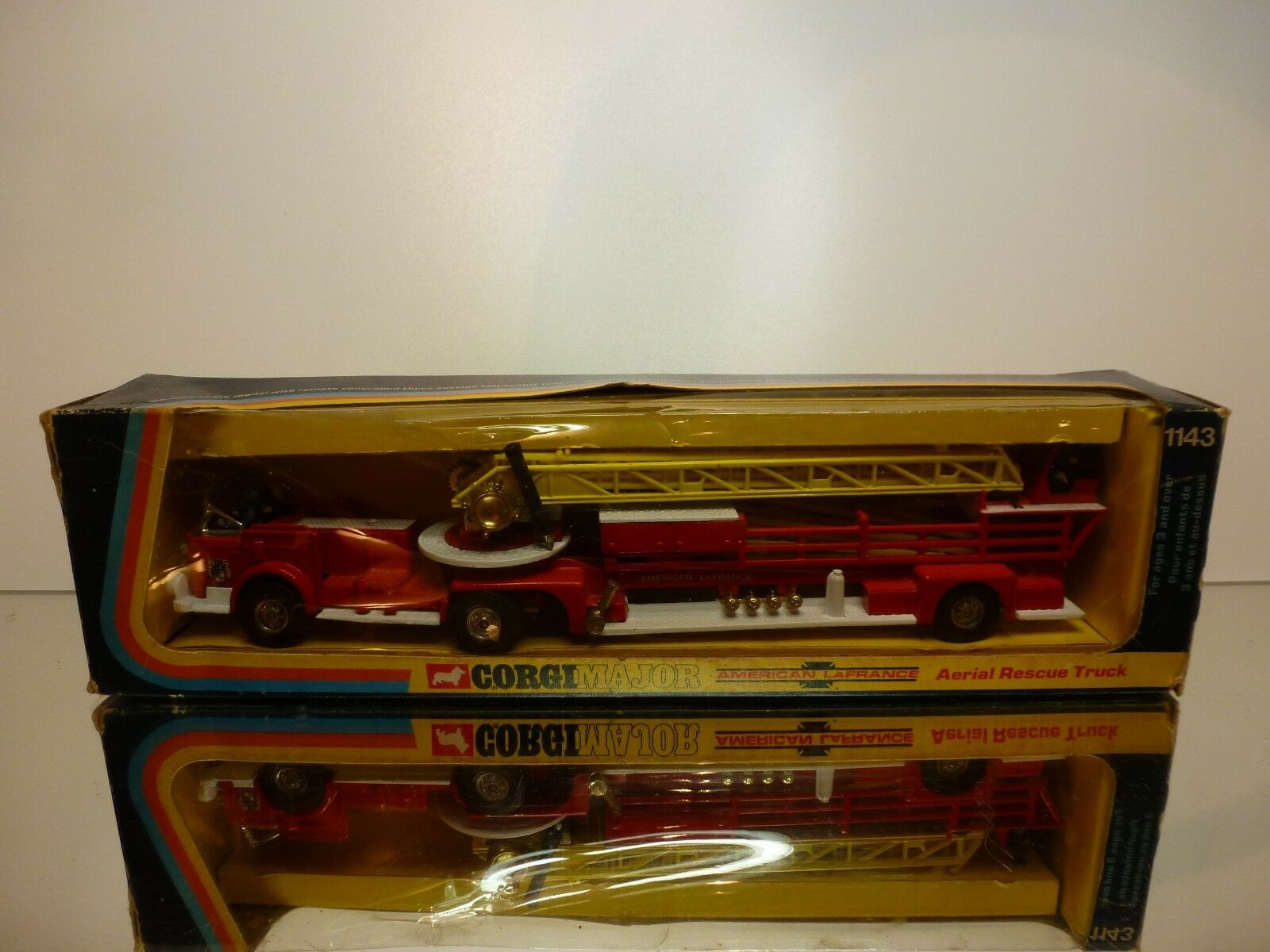 CORGI TOYS 1143 AERIAL RESCUE TRUCK - AMERICAN LaFRANCE - VERY GOOD IN BOX