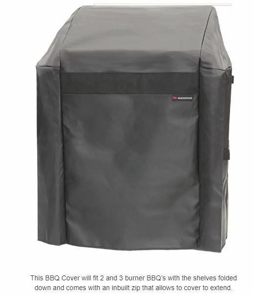 Matador 2 and 3 Burner BBQ Cover, black NEW