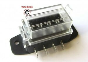 12 volt standard blade fuse holder box car 4 fuses 10 amp. Black Bedroom Furniture Sets. Home Design Ideas