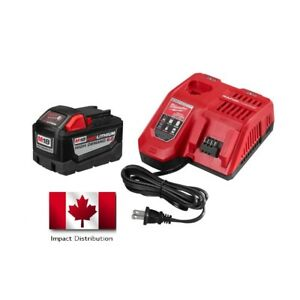 Milwaukee 48-59-1890 M18 REDLITHIUM HIGH DEMAND 9.0  Ah Battery Rapid Charger