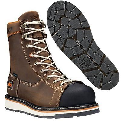 Timberland PRO Millworks Composite Toe Waterproof Work Boots Brown