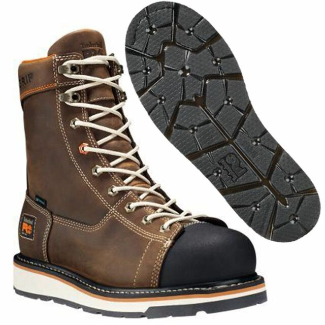 """Timberland Pro Boots Mens Gridworks 8"""" Soft Toe Waterproof Brown A16T4"""