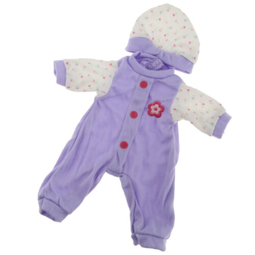 MagiDeal AG American Doll Jumpsuit /& Hat Purple fit for 14.5inch Doll Toy Decor