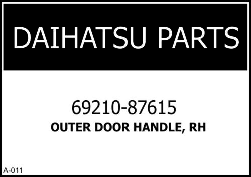 *DAIHATSU ROCKY FOURTRAK FEROZA TAFT F70 HIJET S75 EXTERIOR DOOR HANDLE OUTER RH