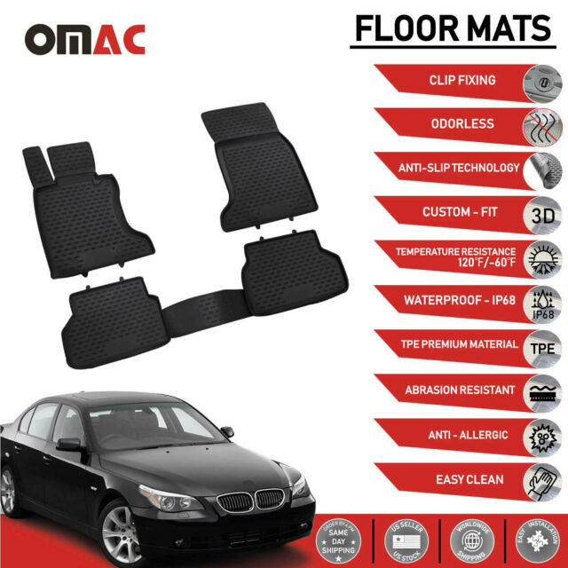 Charcoal Carpet Insert carmats4u To fit 5 Series E60 Saloon 06//2003-2010 Fully Tailored PVC Boot Liner//Mat//Tray