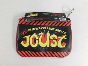 NEW NWT Put Coin in Slot JOUST Midway Classic Arcade Game COIN PURSE Pouch