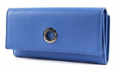 2019 Moda Mandarina Duck Mellow Leather Wallet With Flap L Geldbörse Colony Blue Blau