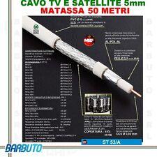 50 METRI DI CAVO TV E SAT 5 mm CON TRECCIA IN RAME MARCA M&P MODELLO ST 53/A